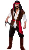 Budget Caribbean Pirate Man Costume (EM3193)